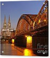 Hohenzollernbrucke In Cologne Acrylic Print
