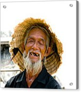 Hoi An Fisherman Acrylic Print by David Smith