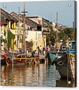 Hoi An Fishing Boats 02 Acrylic Print