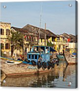 Hoi An Fishing Boats 03 Acrylic Print