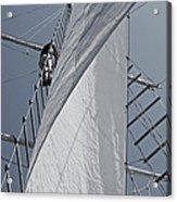 Hoisting The Mainsails Acrylic Print