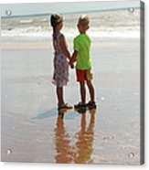 Holding Hands Acrylic Print by Rachael Curry