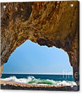 Hole In The Wall - Natural Tunnel In Santa Cruz Acrylic Print