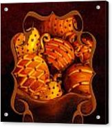 Holiday Citrus Bowl Iphone Case Acrylic Print