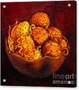 Holiday Citrus Bowl  Acrylic Print