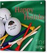 Holiday Golf Acrylic Print