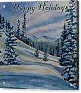 Happy Holidays - Winter Landscape Acrylic Print