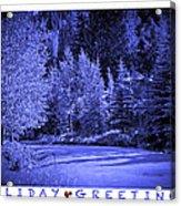 Holiday Greetings - Vail - Colorado Acrylic Print