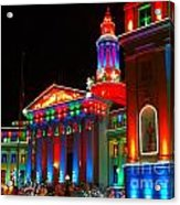 Holiday Lights 2012 Denver City And County Building B2 Acrylic Print