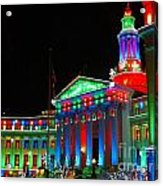Holiday Lights 2012 Denver City And County Building C1 Acrylic Print