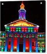 Holiday Lights 2012 Denver City And County Building D3 Acrylic Print