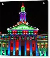 Holiday Lights 2012 Denver City And County Building G1 Acrylic Print