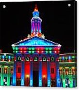 Holiday Lights 2012 Denver City And County Building G2 Acrylic Print
