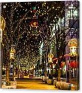 Holiday Lights In Denver Colorado Acrylic Print