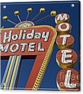 Holiday Motel Las Vegas Acrylic Print by Edward Fielding