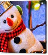 Holiday Snowman Acrylic Print