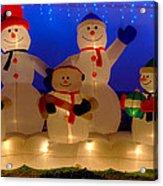 Holiday Snowmen 2 Acrylic Print