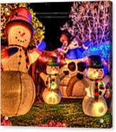 Holiday Snowmen Acrylic Print