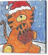 Holiday Tiger Acrylic Print