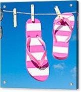 Holiday Washing Line Acrylic Print by Amanda And Christopher Elwell