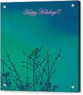 Holiday With Nature Acrylic Print