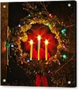 Holiday Wreath Acrylic Print