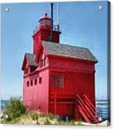 Holland Harbor And Big Red Acrylic Print