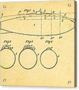 Holland Submarine Patent  Art 1902 Acrylic Print