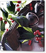 Holly And Bells Acrylic Print