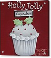 Holly Jolly Cupcakes Acrylic Print