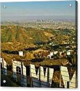 Hollywood And The Los Angeles City Skyline Acrylic Print