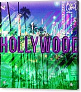 Hollywood Day And Night Acrylic Print