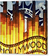 Hollywood Gold Acrylic Print