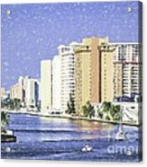 Hollywood In Florida Acrylic Print