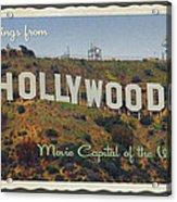 Hollywood Postcard Acrylic Print