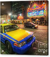 Hollywood Taxi Acrylic Print
