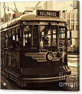 Hollywood Trolley Acrylic Print