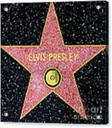 Hollywood Walk Of Fame Elvis Presley 5d28923 Acrylic Print