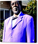 Hollywood Wearing His Dress Suit And Bow Tie Color Photo Usa Acrylic Print