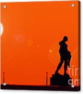 Holocaust Memorial - Sunset Acrylic Print