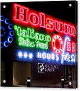 Holsum Neon Las Vegas Acrylic Print by Kip Krause