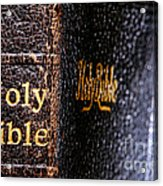 Holy Bible Acrylic Print