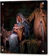 Holy Child Acrylic Print by Jean Hildebrant