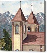 Holy Family Catholic Church In Fort Garland Colorado Acrylic Print