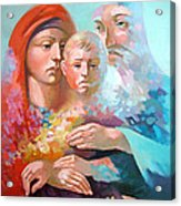 Holy Family Acrylic Print by Filip Mihail