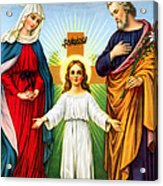 Holy Family With Cross Acrylic Print