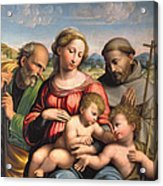 Holy Family With The Infant St. John The Baptist And St. Francis Acrylic Print