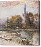 Holy Trinity Church On The Banks If The River Avon Stratford Upon Avon Acrylic Print