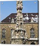 Holy Trinity Statue Budapest Acrylic Print