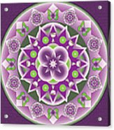 Holy Week Mandala Acrylic Print by Linda Pope